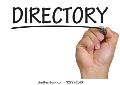 The hand writing directory