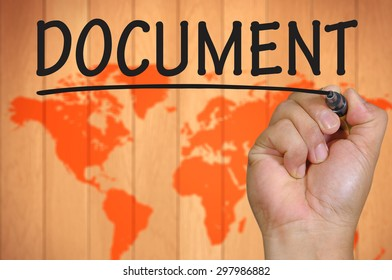 The hand writing document