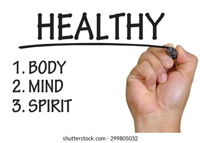 The hand writing healthy