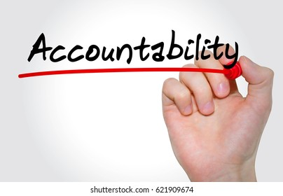 Hand writing inscription Accountability with marker, concept