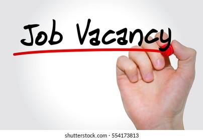 "Hand writing inscription ""Job Vacancy with marker, concept"