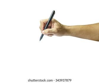 Hand writing isolate on white background
