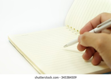 Hand writing isolated on the white background