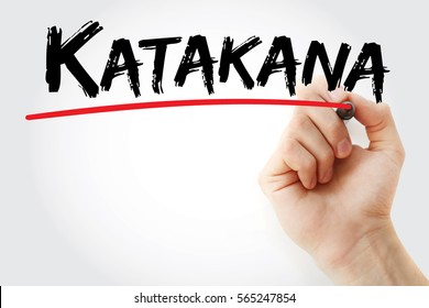 Hand writing Katakana with marker, concept background