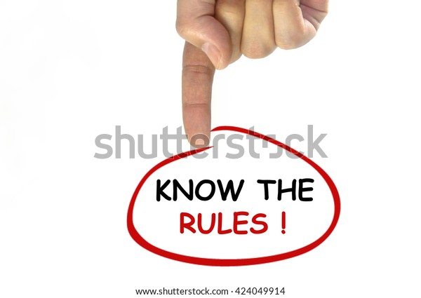 Hand Writing Know Rules On Transparent Stock Photo (Edit Now