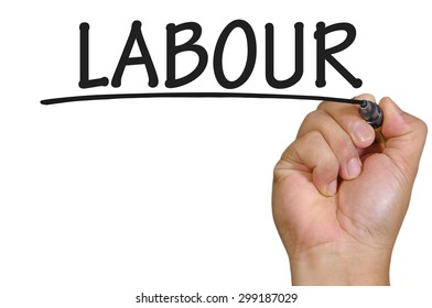 The hand writing labour