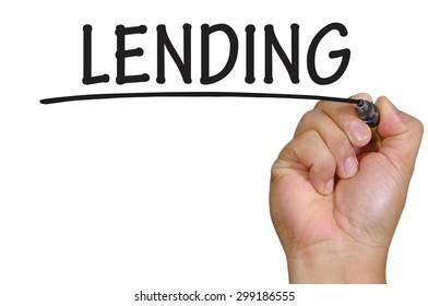 The hand writing lending