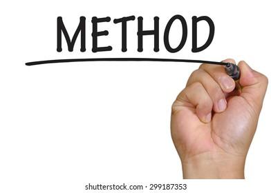 The hand writing method