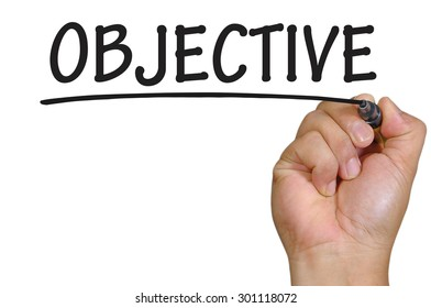 The hand writing objective
