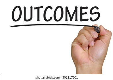 The hand writing outcomes