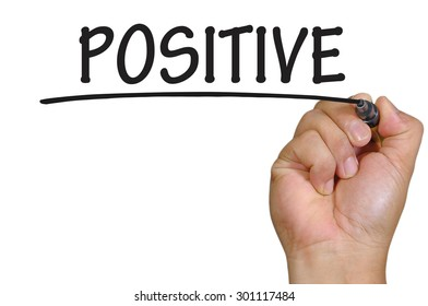The hand writing positive
