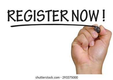 hand writing register now  .