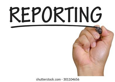The hand writing reporting