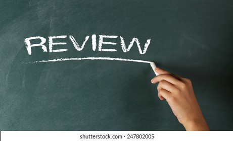 Hand Writing Review on Chalkboard