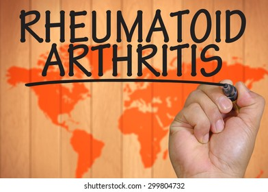 The hand writing rheumatoid arthritis