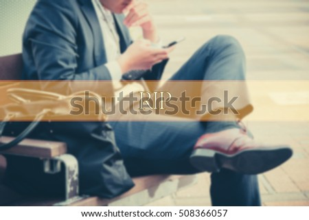 Hand Writing RIP Abstract Background Word Stock Photo (Edit Now
