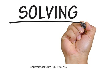 The hand writing solving
