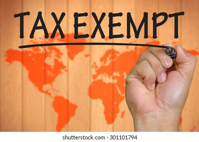 The hand writing tax exempt