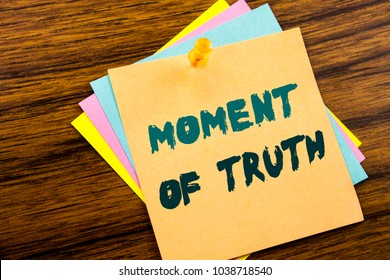 moment of truth essay The moment of truth is part of the character arc discover how to find your character's moment of truth from jeff gerke, author of plot vs character.