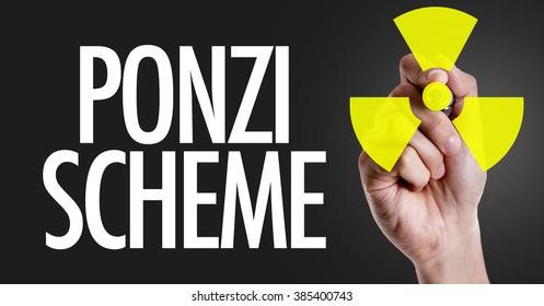Hand writing the text: Ponzi Scheme