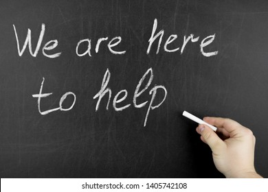 Hand writing We are here to help on blackboard