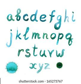 Hand written watercolor english font