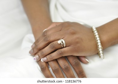 Hand Young African Woman Wearing Wedding Stock Photo Edit Now