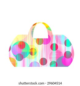 handbag in colorful prints and pattern