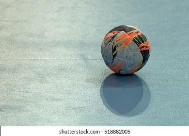 Handball ball on field