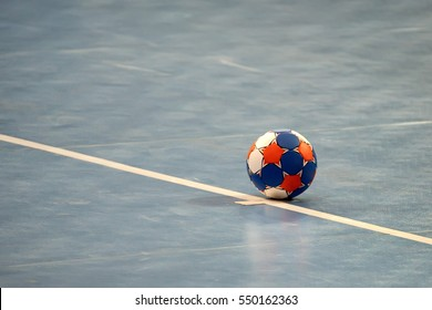 Handball ball on field