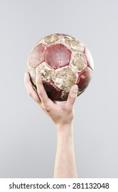 handball dirty old ball
