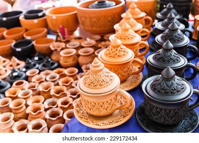 Handcraft of clay pottery ceramics