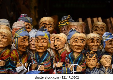 Handcraft of wood shaped sculpture society typical toraja tribe of Indonesia