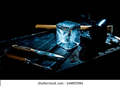 handcrafted ice cube