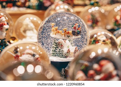 Handcrafted traditional  Christmas globe sold in Salzburg Christmas Market