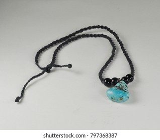 handcrafted turquoise stone necklace
