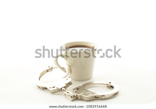 Handcuff with coffee