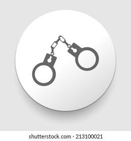 handcuffs icon on white background. illustration