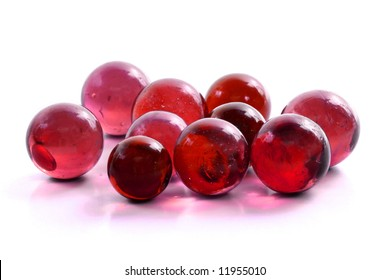 Handful of Red Marbles