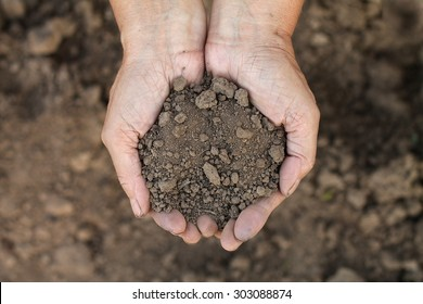 Handful of Rich Brown Soil