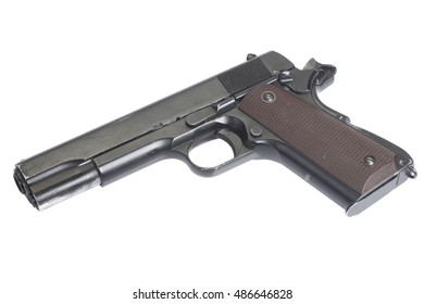 handgun government M1911 isolated