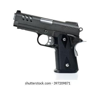 handgun, gun, weapon isolated on white background.