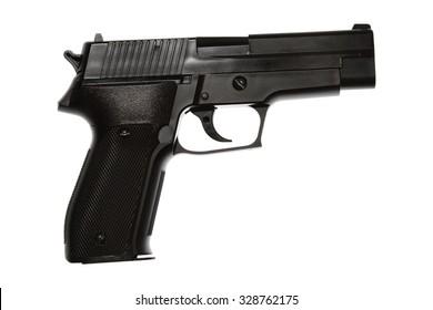 Handgun isolated on plain background