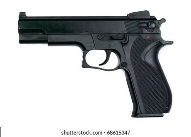 Handgun isolated on a white background.