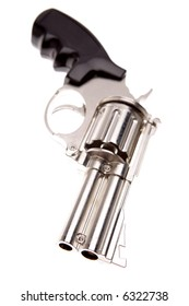 Handgun isolated over white
