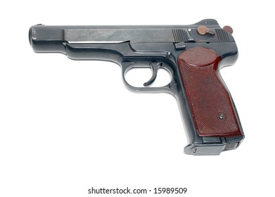 Handgun isolated over a white background