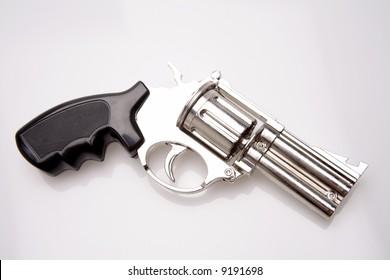 Handgun isolated over white background