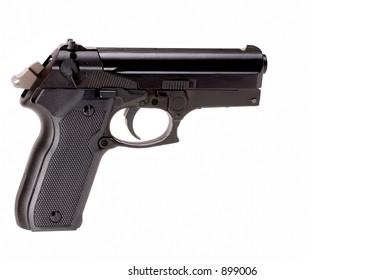 Handgun on white
