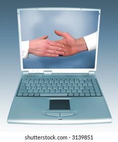 handhake on computer