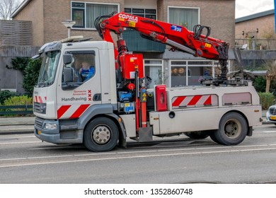 Handhaving Company Towing Truck At Amsterdam The Netherlands 2019